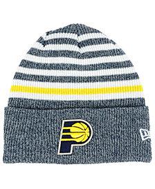 New Era Indiana Pacers Striped Cuff Knit Hat
