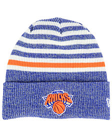 New Era New York Knicks Striped Cuff Knit Hat