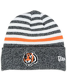 New Era Cincinnati Bengals Striped2 Cuff Knit Hat
