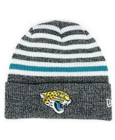 New Era Jacksonville Jaguars Striped2 Cuff Knit Hat