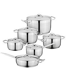 Hotel 18/10 Stainless Steel 12 Piece Cookware Set