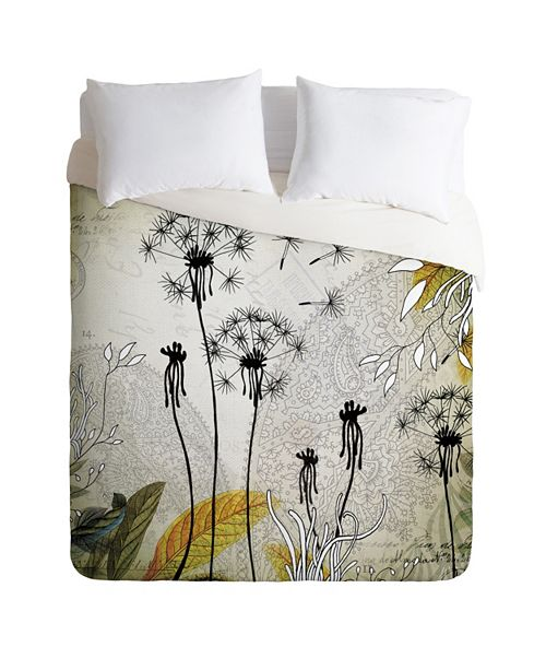 Deny Designs Iveta Abolina Little Dandelion Twin Duvet Set