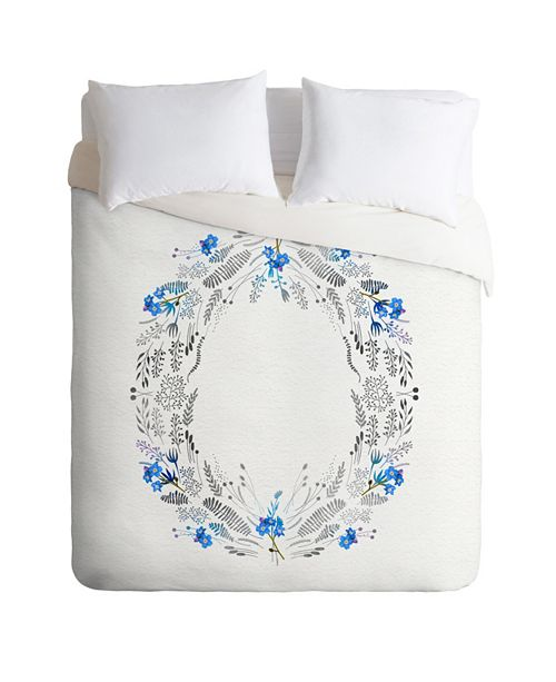 Deny Designs Iveta Abolina Dreamland Blue Queen Duvet Set