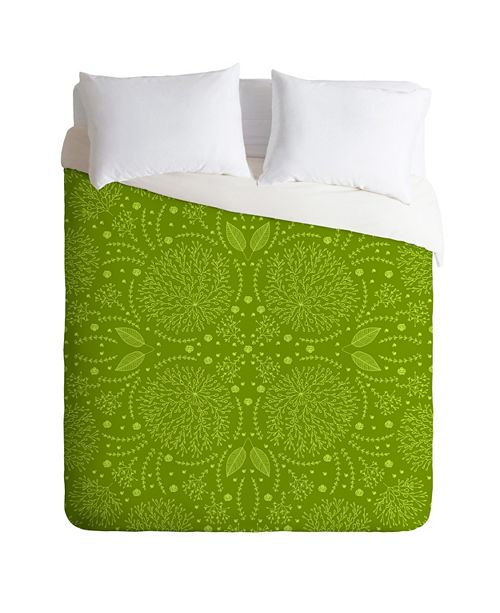 Deny Designs Iveta Abolina Green Terrace Twin Duvet Set