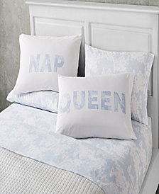 Just Nap 6 Piece Queen Size Microfiber Sheet Set With Novelty Pillowcases