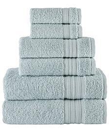 Sea Mist Turkish Spa Collection 6-Pc Cotton Towel Set