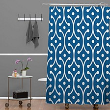 Holli Zollinger Denim Picket Shower Curtain