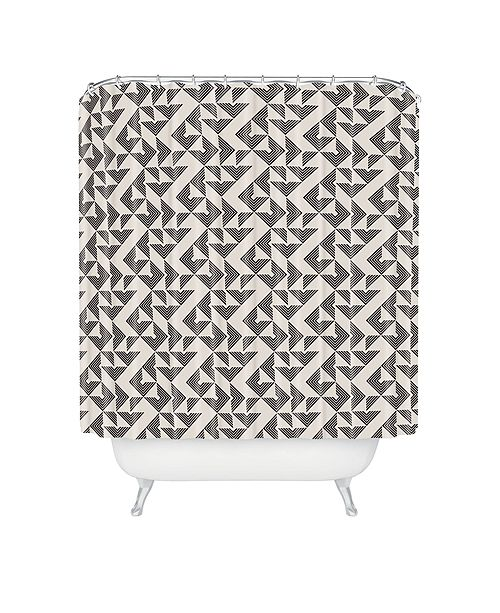 Deny Designs Holli Zollinger Mod Circuit Neutral Shower Curtain