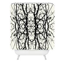 Deny Designs Holli Zollinger Tree Silhouette Black Shower Curtain