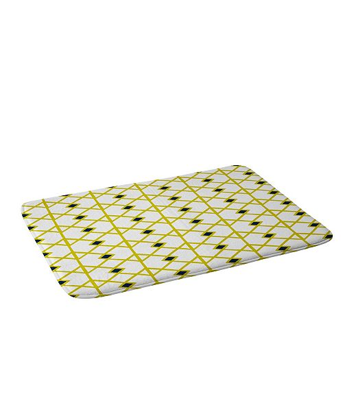 Deny Designs Heather Dutton Annika Diamond Citron Bath Mat