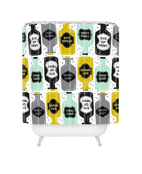 Heather Dutton Witches Brew Shower Curtain