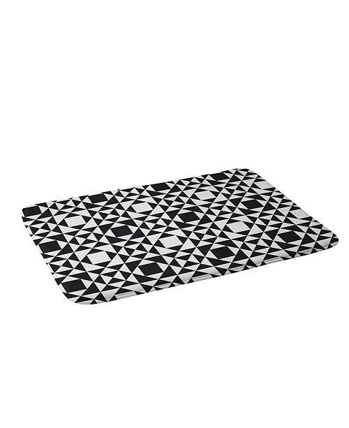 Deny Designs Heather Dutton Rhythm Black Bath Mat