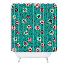 Deny Designs Holli Zollinger Suzani Turquoise Shower Curtain