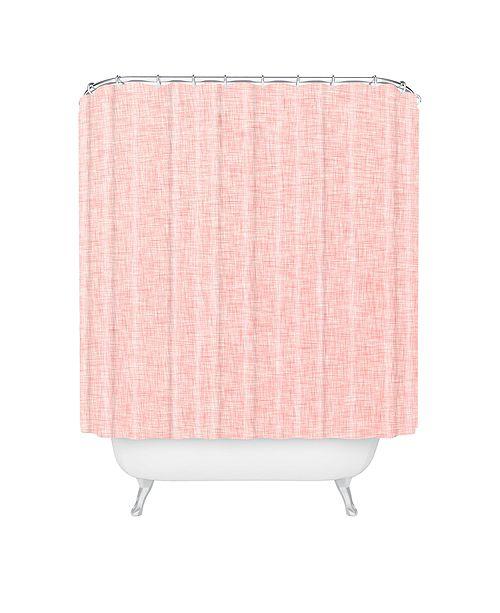 Deny Designs Holli Zollinger Linen Marsala Rosee Shower Curtain