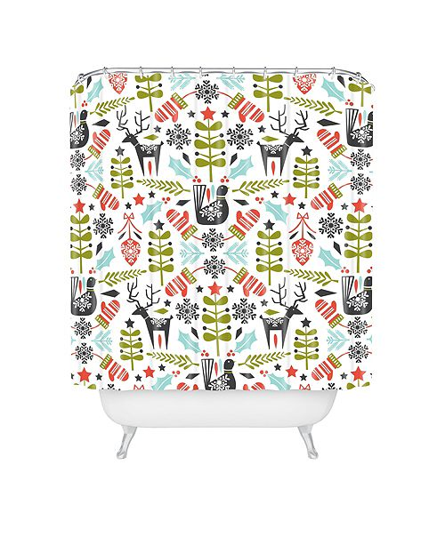 Deny Designs Heather Dutton Hygge Holiday Shower Curtain