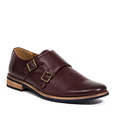 Deer Stags Men's Cyprus Memory Foam Dress Casual Comfort Double Monk Strap Shoe