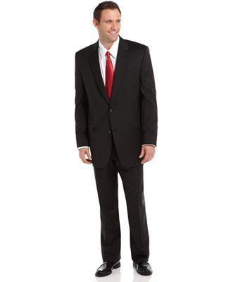 Lauren Ralph Lauren Black Stripe Big and Tall Suit Separates