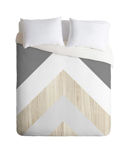 Deny Designs Iveta Abolina Chevron Peak Twin Duvet Set