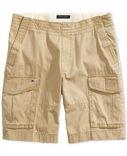 26345c88a4 Tommy Hilfiger Men's Cargo Shorts with Magnetic Fly & Reviews ...
