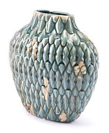 CLOSEOUT! Seta Short Vase Distressed Blue