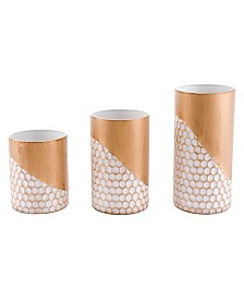 Zuo Honeycomb Candle Holders, Set Of 3