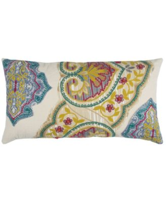 """14"""" x 26"""" Floral Poly Filled Pillow"""