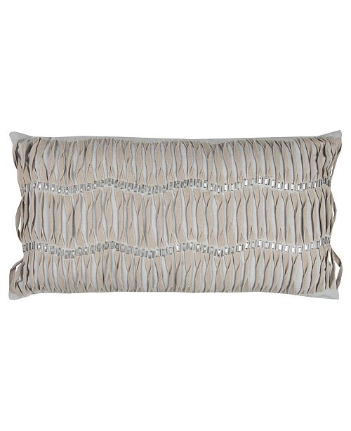 """Rizzy Home Donny Osmond 14"""" x 26"""" Vertical Deconstructed Stripe Poly Filled Pillow"""