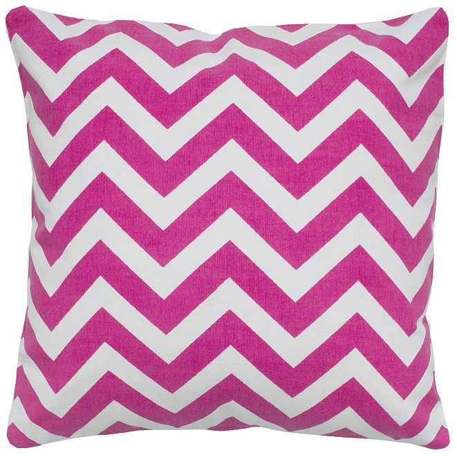 "Rizzy Home 18"" x 18"" Chevron Poly Filled Pillow"