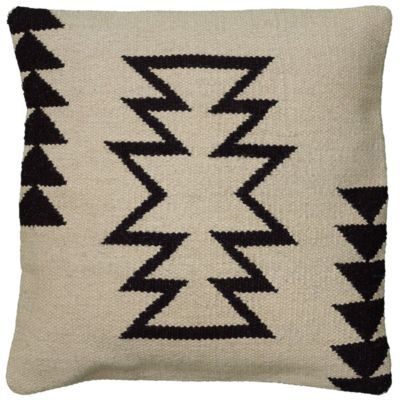 """18"""" x 18"""" Large Arrow motif with offset arrow stripes Poly Filled Pillow"""