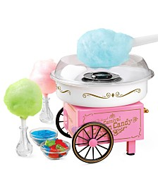 Nostalgia Vintage Hard & Sugar-Free Candy Cotton Candy Maker