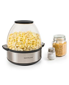 Nostalgia 6-Quart Stainless Steel Stirring Speed Popcorn Popper