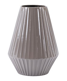 Metal Medium Gray Vase