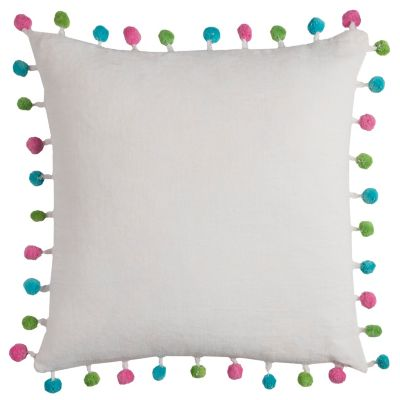 "18"" x 18"" Poms Poly Filled Pillow"