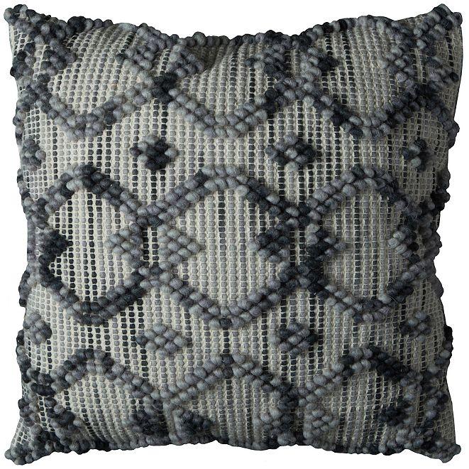 "Rizzy Home 20"" x 20"" Diamond Pattern Poly Filled Pillow"