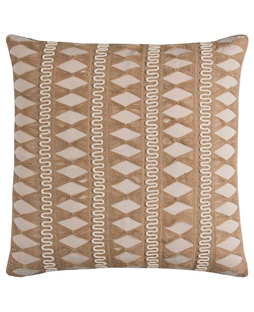 "Rizzy Home 22"" x 22"" Pulled Jute Stripe Pillow Collection"