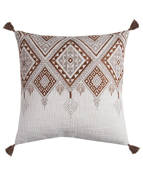 "Rizzy Home 20"" x 20"" Tribal Aztec Design with Tassels Poly Filled Pillow"