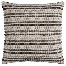 "20"" x 20"" Striped Poly Filled Pillow"