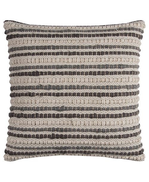 """Rizzy Home 20"""" x 20"""" Striped Poly Filled Pillow"""