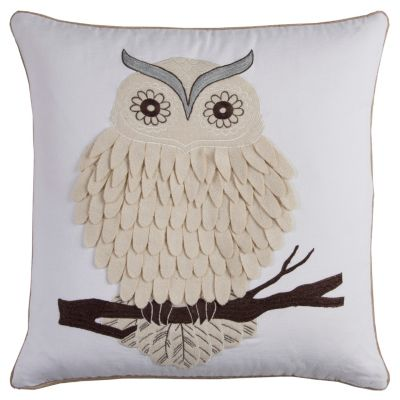 "20"" x 20"" Owl Poly Filled Pillow"
