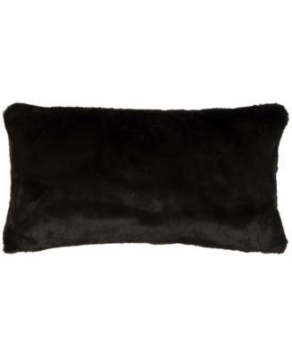 "14"" x 26"" Faux Fur Poly Filled Pillow"