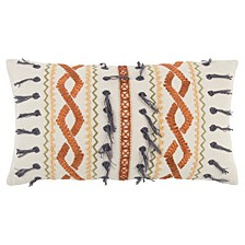 """14"""" x 26"""" Geometrical Design Poly Filled Pillow"""