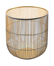 Jaula Candle Holder Lg Matte Black&Gold