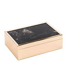 Black Stone Box Lg Black