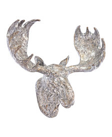 Moose Wall Decor Silver