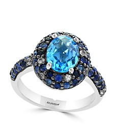 EFFY® Blue Topaz (2 ct. t.w.) and Sapphire (1-1/2 ct. t.w.) Ring in Sterling Silver