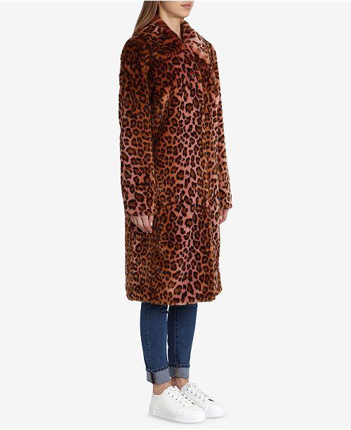 90e38125cc4c Avec Les Filles Faux-Fur Leopard-Print Coat & Reviews - Coats ...