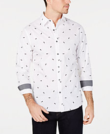 Michael Kors Men's Slim-Fit Flocked Sunglasses Shirt