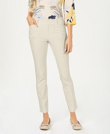 Petite Solid Newport Slim-Leg Pants, Created for Macy's