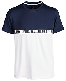 Ideology Big Boys Future-Print Colorblocked T-Shirt, Created for Macy's