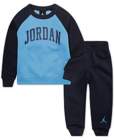 Jordan Little Boys 2-Pc. Arched Fleece Top & Pants Set